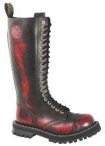 20 dírkové boty STEEL Red Black 70d187ff98