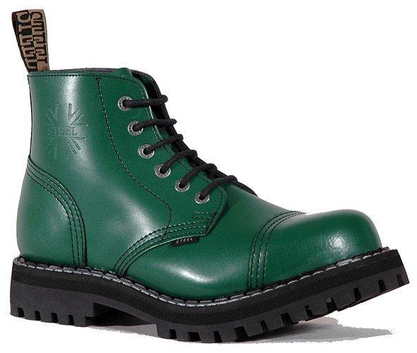 6 dírkové boty STEEL Full Green   Hilby.cz - Boty MERRELL 50706af035