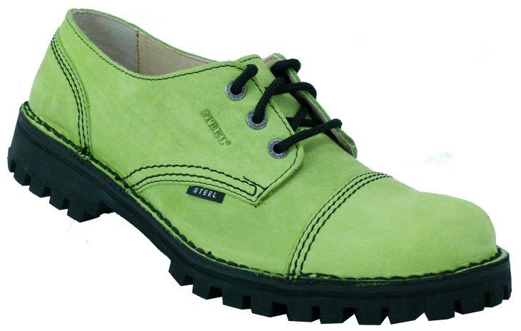 3 dírkové boty STEEL 317 Green Nubuk bez oceli   Hilby.cz - Boty ... 7bb0c7a6df