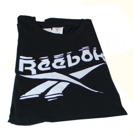 REEBOK FK6038 GS BRANDED CREW TEE BLACK